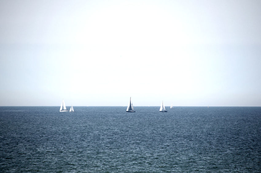 Beauty In Nature Horizon Over Water Nature Outdoors Sailboat Sailing Sea Tranquility