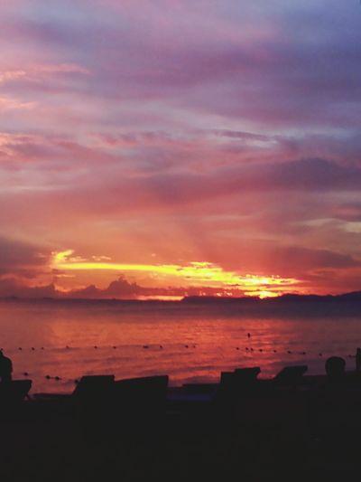 Nature On The Beach Sea Sunset