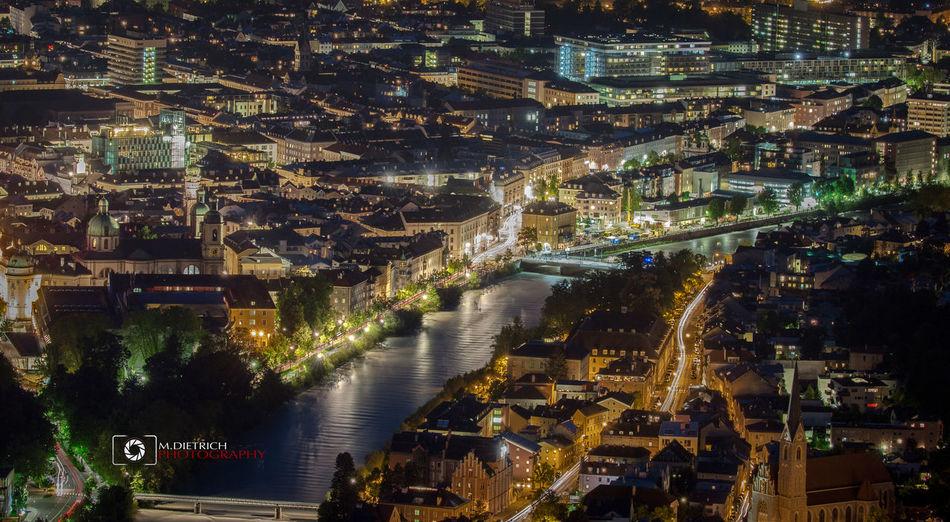 Innsbruck/Tirol bei Nacht - Fotografiert von der Hungerburg Talstation aus. Architecture Austria City Cityscape Fotografie Innsbruck Innsbruck By Night MyInnsbruck Night Photography Tirol