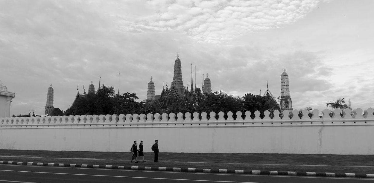 Architecture Building Exterior Built Structure City Day Grand Palace Bangkok Thailand History Horizontal King Bhumipol Adulyadet Large Group Of People Outdoors People Person Real People Sky Tourism Travel Travel Destinations Tree