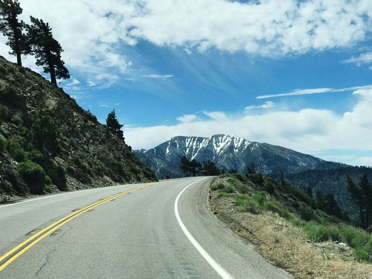 Road Transportation Road Marking The Way Forward Mountain Sky Day White Line Mountain Range No People Cloud - Sky Nature Outdoors Scenics Beauty In Nature Mountain Road The Road Ahead Snow California Jeep Life Wrangler Jeepjk