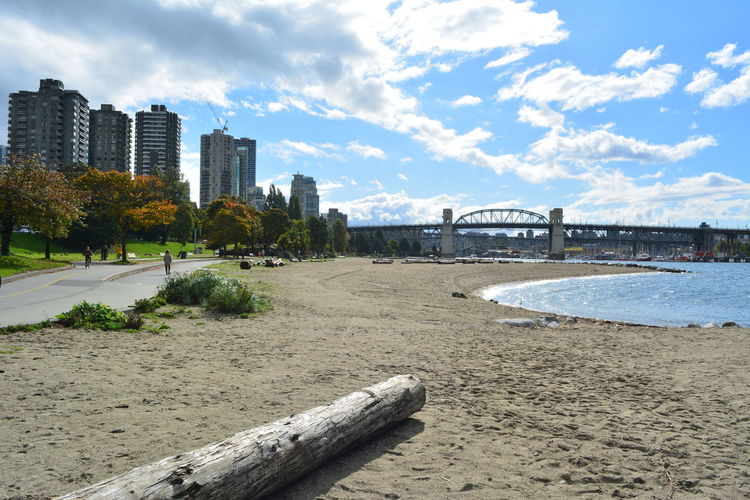 Vancouver Vancouver BC Canada British Columbia Outdoors Built Structure Architecture Building Exterior Sky Beach Water City Nature Building Land Bridge Bridge - Man Made Structure Connection No People Cityscape Office Building Exterior Cloud - Sky Day River Tree Skyscraper