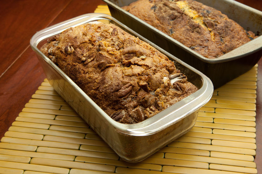 Homemade Cinnamon nut bread presented on a table Baked Goods Cinnamon Roll  Comfort Food Lifestyle Cinnamon Coffee Cake  Crumbcake Foodphotography Nut Bread Pastry Unhealthy Eating