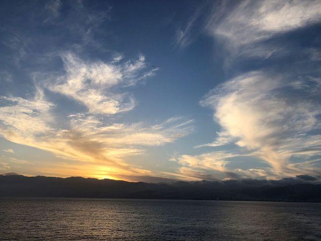 Sonnenuntergang Abendsonne Abendröte Wolkenbilder Wolkenkunst Wasserspiegelung