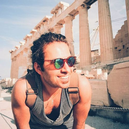 Sunglasses Sunlight Outdoors One Man Only Close-up Men Vacations Young Adult Sky Athens Acropolis Acropolis, Athens Mellerbrand Fashion