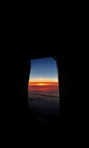 Sunrise Above The Clouds Red Sky