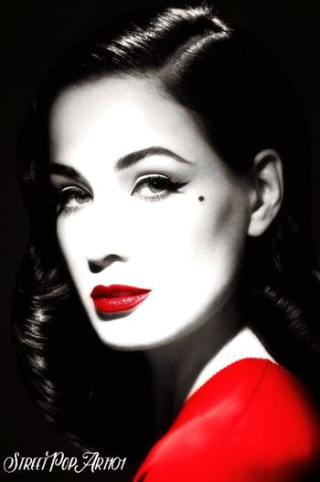 One of my more current photo edits I'm starting to add my name to it because I've notice people were stealing my work Black And White Photoedit Red Lips Ditavonteese