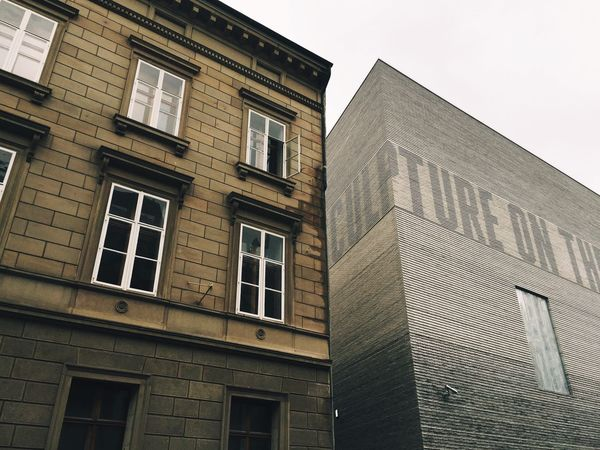 Envision The Future Old Buildings New Building  Contrast Architecture Architectural Detail The Architect - 2016 EyeEm Awards City Urban Urban Geometry Museum Of Modern Art Basel, Switzerland From My Point Of View Color Palette Two Is Better Than One TakeoverContrast Adapted To The City