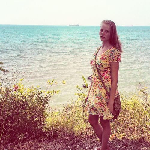 Summer2014 Sea That's Me Relaxing Working Hard Summerdress Blonde Face Girl Enjoying Life