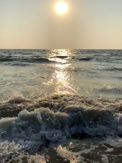 Water Sea Horizon Over Water Sky Scenics - Nature Horizon Beauty In Nature Beach Sunlight Sun Wave Motion