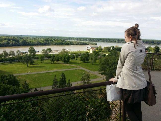 Walking Around Posing Panorama River
