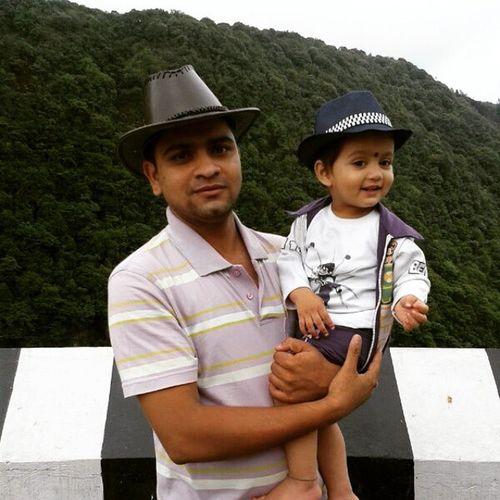 on demand of my shaitan chubuli instafriend @nainajain_11 pic of my cute natkhat bhatija wid my bro 1 year old bhatija's pic :) . Yele Naina Dkhle