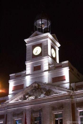 Madrid Spain Reloj Puerta Del Sol