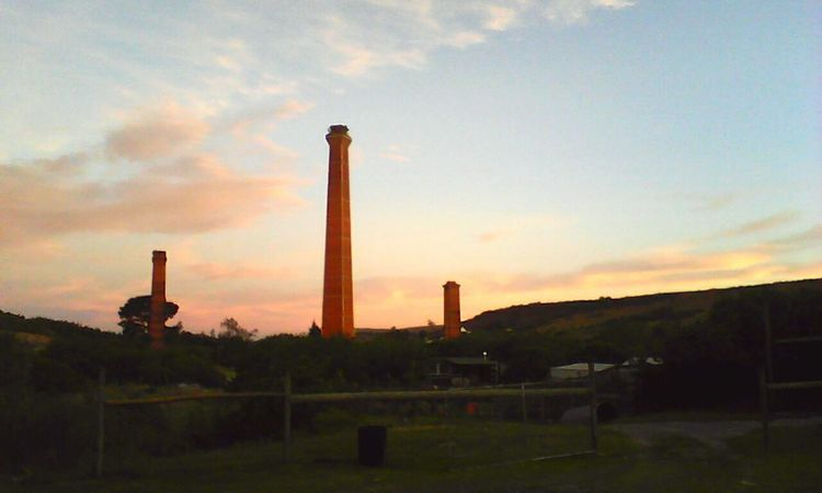 The Three Chimneys. Sky No People Outdoors Millennial Pink EyeEmNewHere Small Town Old Buildings Grunge Photography Pink Scenics Beauty In Nature Nature Sunset Farm Life