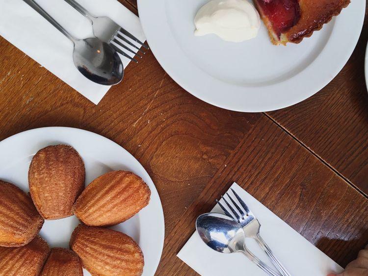Madeleine Plum Almond Tart Dessert StJohn Restaurant Food London Shoreditch Uk Travel
