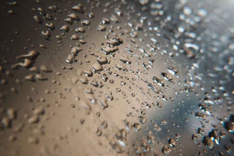 Water drop on mirror