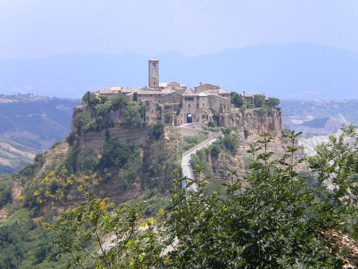 View of civita di bagnoregio village