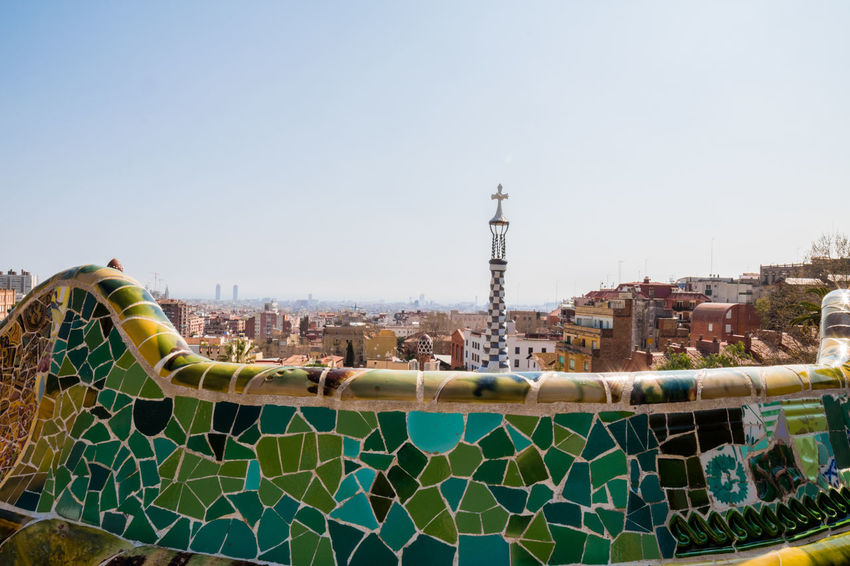 Sport Clear Sky Sky Outdoors Stadium Team Sport Soccer Field People Day Adult Water Slide Water Park Cityscapes Travel Destinations City Street Panoramic Portrait Of A City Tourist Attraction  Barcelona Park Güell, Barcelona Building Exterior Clear Sky City Ciudad Panorama