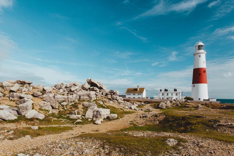 Lighthouse against sky in uk