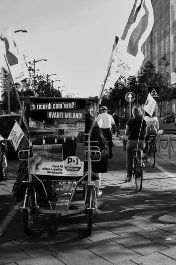 CyclingUnites Mode Of Transport City Outdoors Day People Manifestation by Bike Mode Of Transport City Outdoors Day Bikers Black & White Black And White Blackandwhite Streetphoto_bw Bicycle Large Group Of People Urbanphotography Cycling Streetphotography in Milan,Italy Embrace Urban Life My Year My View
