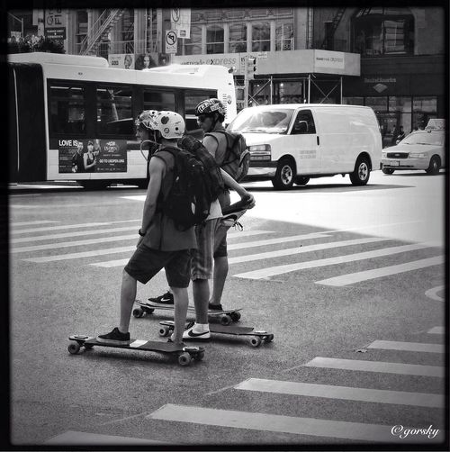 Hipstamatic Streetphotography Skateboarders NYC