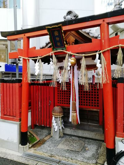 Tooth shrine😂 Japan Outdoors Shrine No People Japan Photography Day Japanese Temple City Tooth Shrine