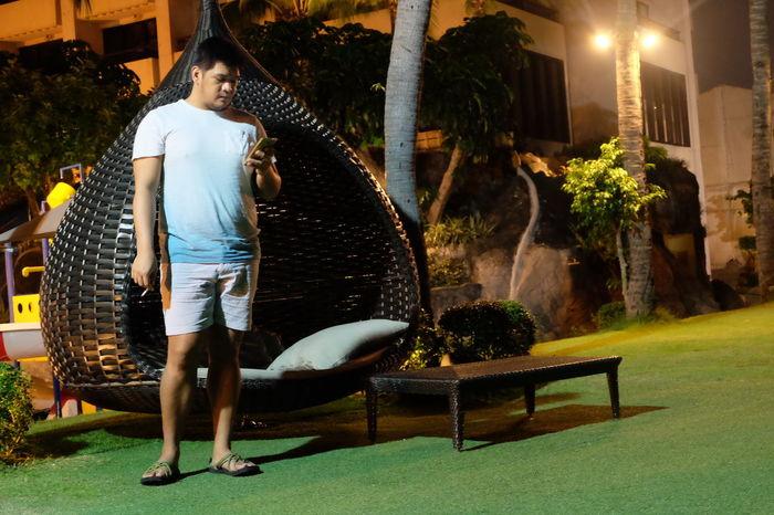 One Person Full Length Men Outdoors Adult Ombreshirts Light Couch Stolenshot Stolen Sofitel Sofitelmanila Sandals Tree