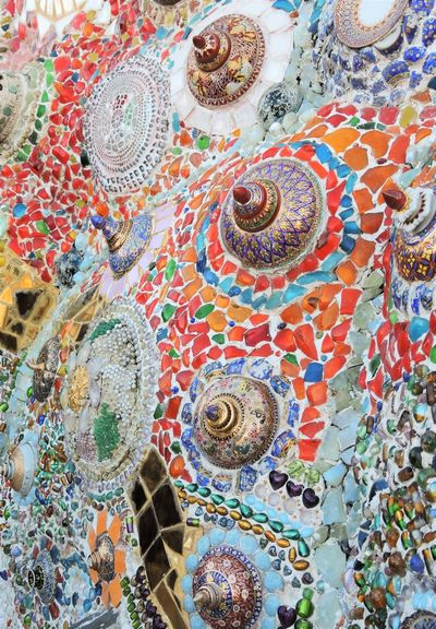 Adorn Architecture Art Arts & Crafts Bead Beads Benjarong Crafts Crystal Embellished Embellishment Glass Invention Inventions Stone Stone Colour Texture Texture Stones Textured Glass Tile Tile Texture Travel Photography Travel Thailand Wall Sculpture Wat Phra That Pha Son Kaew