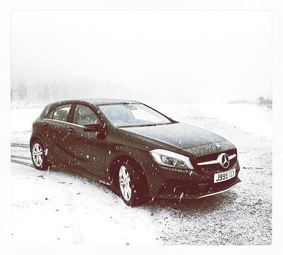 Mercedes Aclass Snow Cairngorms