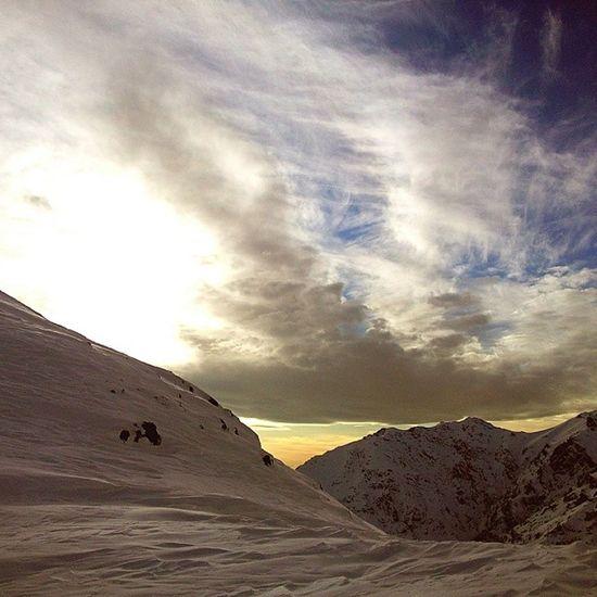 Iran Tehran Tochal Istgah5 snow winter cloud sonnenuntergang mountain hiking natur kalt توچال کوه کوهنوردی تهران Gebirge teheran