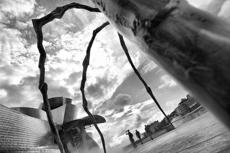 Travel Destinations Travel Photography Guggenheim Bilbao OpenEdit Nikon Sunlight Tokina 11-16 Mm F/2,8 Bilbao Pais Vasco Guggenheim Museum Euskadi Museum Of Modern Art Blackandwhite Black And White SPAIN Sky Cloud - Sky