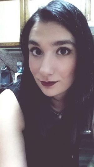 Make Up Girl Fashion Tumblr Tumblrgirl Fashiongirl  Fashiongirl  Girltumblr Selfie Lipstick Blackhair