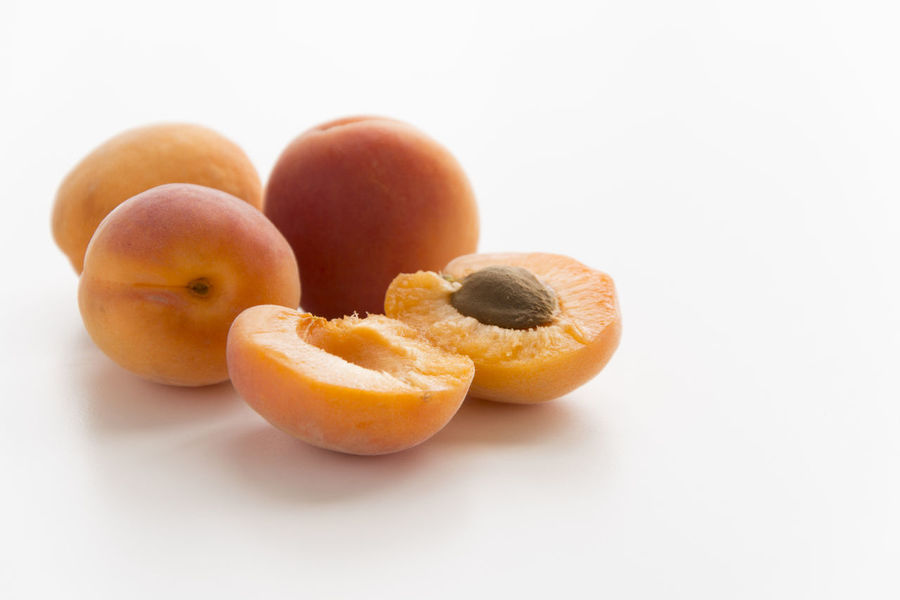 Apricots Apricot Close-up Food Food And Drink Freshness Fruit No People Studio Shot White Background