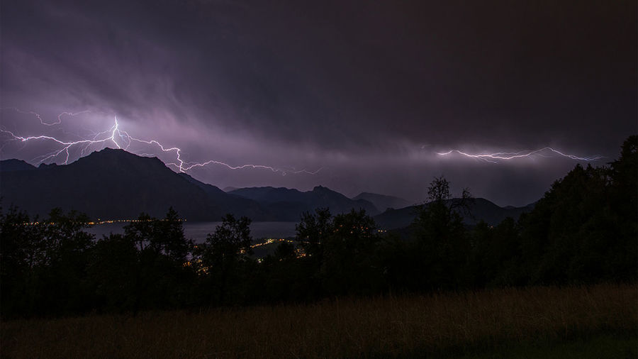 Gewitter Lightning Sky Beauty In Nature Storm Thunderstorm Night Cloud - Sky Scenics - Nature Power In Nature Power Mountain No People Storm Cloud Environment Plant Nature Forked Lightning Land Landscape Outdoors Ominous
