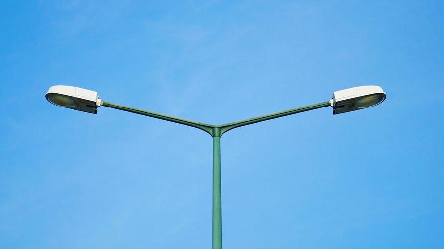 Streetphotography Street Light Steet Lights Blue Sky Electric Light Blue Clear Sky Sky