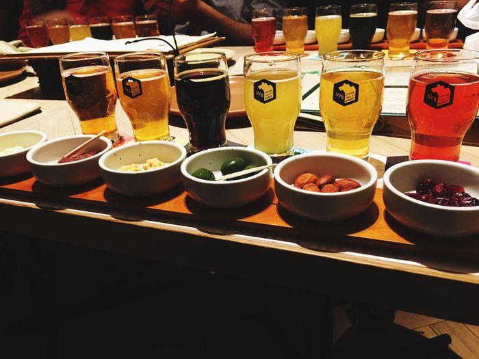 A nice sampling with some really good 'brown lemonade' Food And Drink Beer