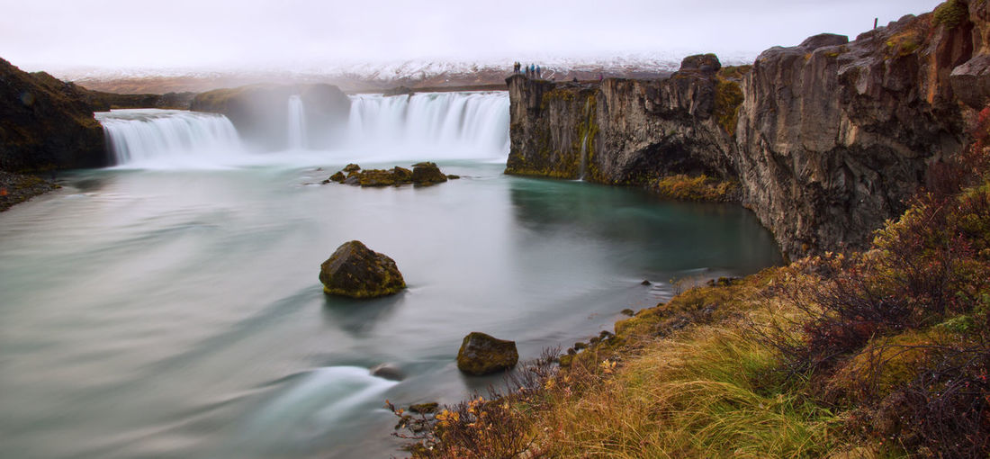 Water Scenics - Nature Long Exposure Beauty In Nature Rock Waterfall Rock - Object Flowing Water Blurred Motion Nature Day Environment Flowing Travel Destinations Non-urban Scene Outdoors Power In Nature Tranquil Scene Falling Water Godda Foss Iceland Natural Beauty