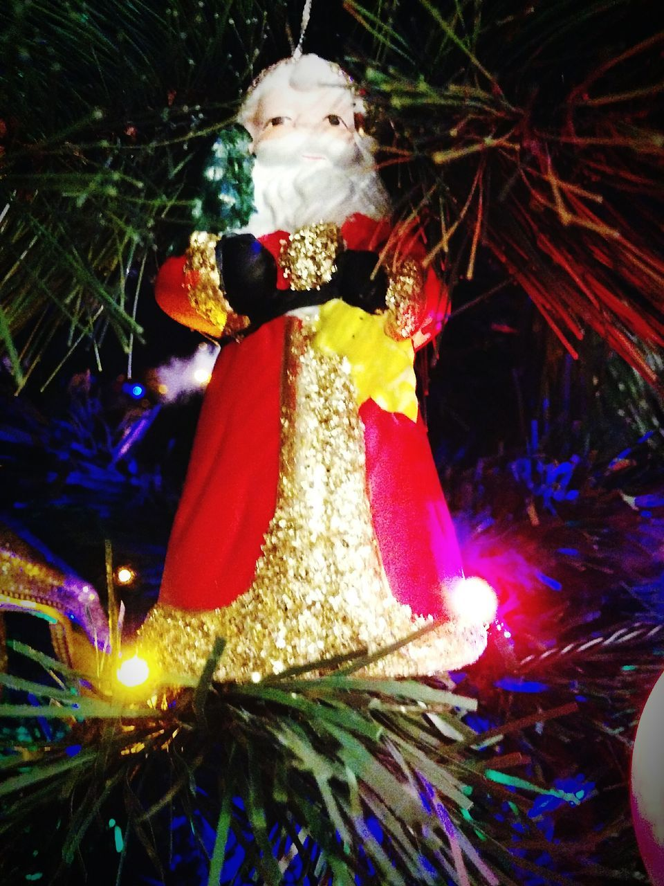 Low Angle View Of Illuminated Christmas Decoration