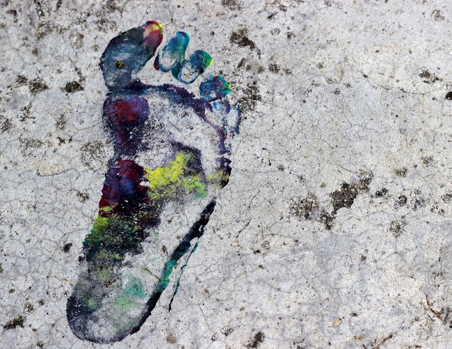 Colors Day Footpath FootPrint Multi Colored No Filter No Filters  No People Outdoors Paint