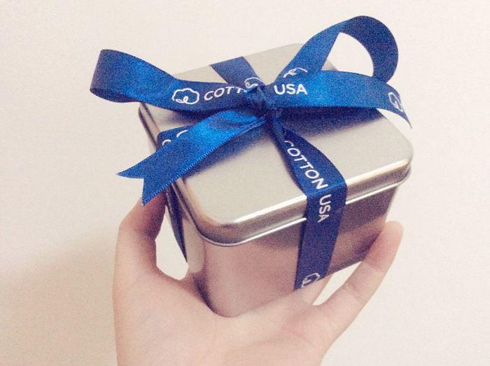 Gift Box Blue Ribbon USA gift from COTTON USA