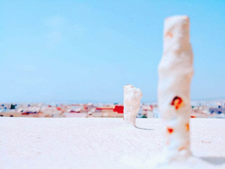 EyeEm Selects Beach Water Sea Sand Pastel Colored Flamingo Blue Summer Sky Close-up Entertainment Hot Spring