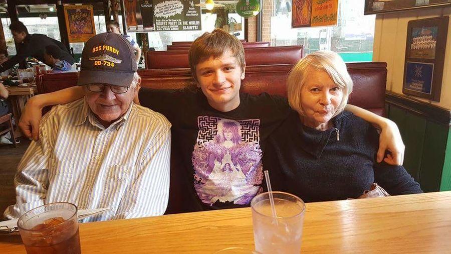 My youngest and parents. Mariettadinner Marietta, Georgia