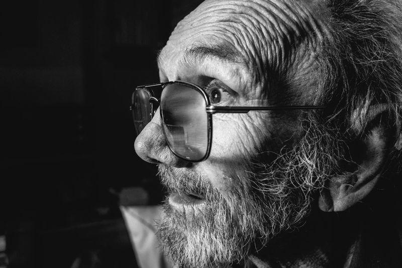 EyeEm Selects Eyeglasses  Senior Adult Beard Human Face Close-up Portrait Bnw