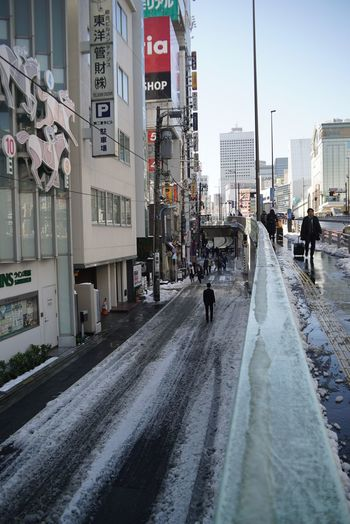 After Snowing Day Cityscape City Life Snapshots of Life People Watching Melting Snow Road Street Photography Tokyo Street Photography Shinjuku Tokyo,Japan Wintertime Day