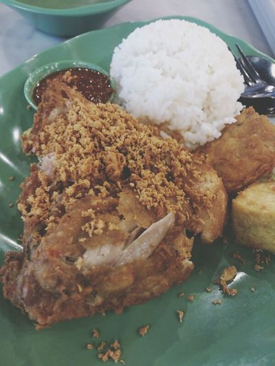 lunch with love Ayampenyet Indonesianfood Chicken