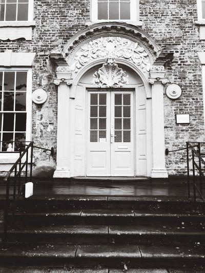England Stone Old Wooden Door Oldlook Archway Grand Door Durham