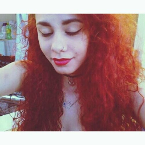 Batomvermelho Crazzy Girl Septum Peircing Badgirl First Eyeem Photo Sad Girl Sadness KAWAII Redhead Red Bad Day LU4 Happy Time Pinupqueen Vintage Pinup Girl Pin Up
