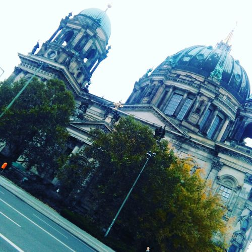 When I went to germany. Low Angle View Architecture Berlin City Clear Sky Building Exterior No People Day OutdoorsSky Built Structure