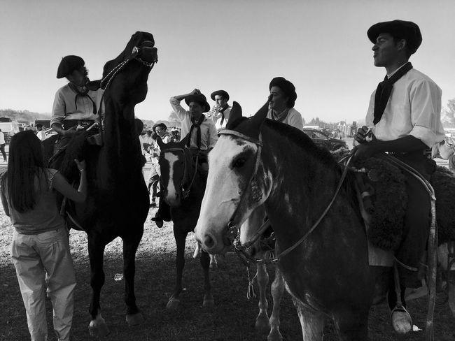 Gaucho Argentino Blancoynegro Blackandwhite Campo Caballos Horse Horseback Riding Real People Nature