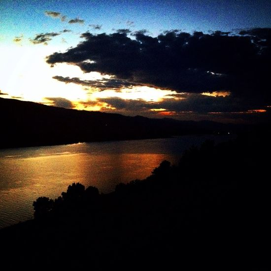 Sunset Horsetooth Colorado Summer